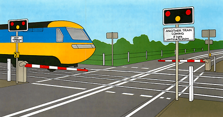 How to Crossing train tracks safely