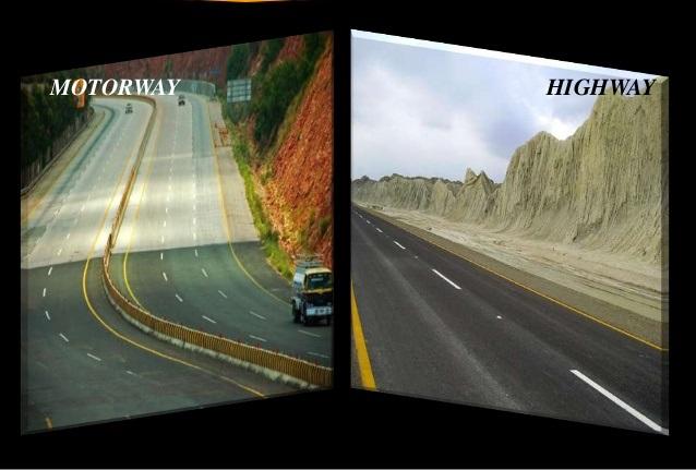 Explain to Motorways and Highways